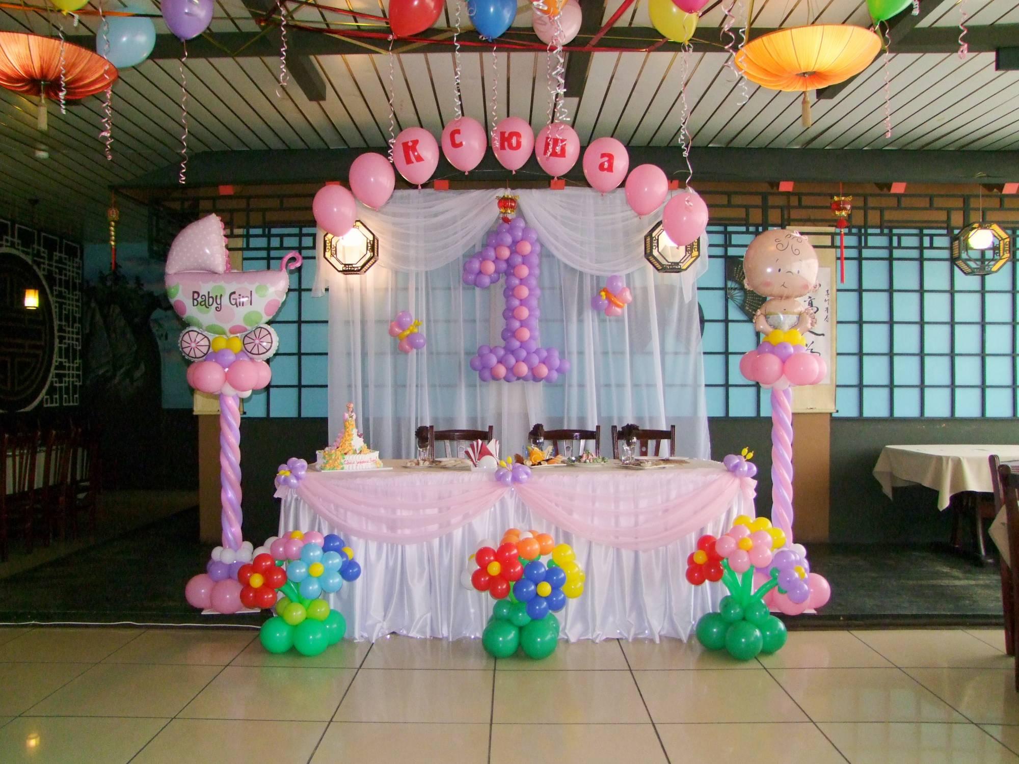 оформление воздушными шарами на детский праздник фото
